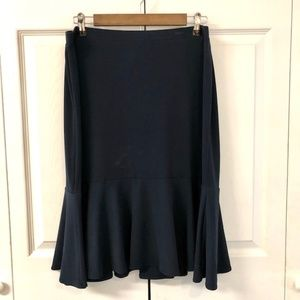 George Stretch Peplum Bottom Navy Skirt SZ11/12